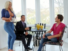 Blonde mom Nicolette Shea seduces her stepson