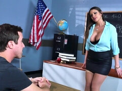 Ms. Brooklyn Chase getting nailed & jizzed by her student after class