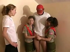 CFNM Broad Scouts Jerk-off - FreeFetishTV.com
