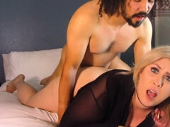 Horny stepson fucks his chubby mommy