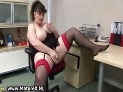 Horny fat aged woman has an intercourse part1
