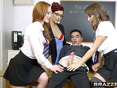 Brazzers - Big tits at school - Lets Welcome The new Student