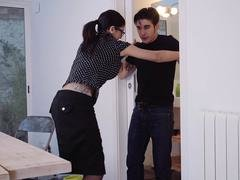 Explicit Shades - Amazing Spanish sex romp with hot pretentious brunette babe Julia De Lucia