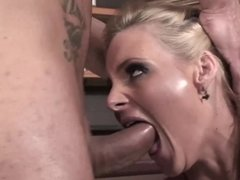 Blonde cooze Phoenix Marie just can't get enough of his stiff rod