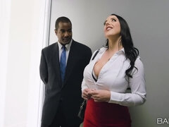 Buxom MILF Angela Seduces Black Daddy By Her Appetizing Tits