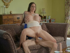 Sexy big titted Cathy Heaven has anal sex with a married man