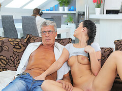 DADDY4K. Nasty girl Erica Black seduces BF's dad to..
