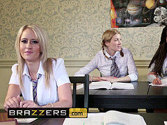 Brazzers - Slutty school female Liza Del Sierra takes immense shaft in all 3 holes