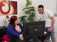 Obese Bitch Rammed In Office - BBW porn
