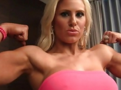 Muscle Barbie Megan Avalon Is A Sexy Hotel Room Tease