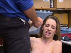 Blonde Kimmy Granger with tight ass gets caught and banged by the sheriff for stealing