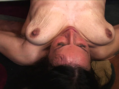 A granny with saggy jugs is getting penetrated deeply in this clip