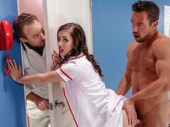 Sex-loving brunette with small tits Alina Lopez screwed by a big dick