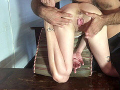 Slave Ruby rectal toy burst part two