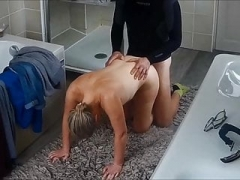 My wife fucked after morning run 3 on voyeur camera