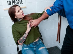 Tattooed slutty princess Vanessa Vega screwed in the office