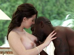 Black swain pleases charming lady friend with his BBC