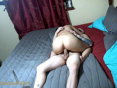 spunky bang-out and amazing pov Creampie with asian superstar @andregotbars