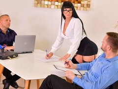 Lusty raven-haired model Valentina Ricci anally nailed by a big dick