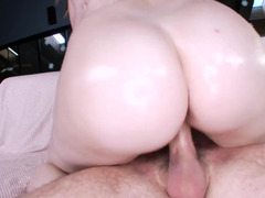 Curvy babe Felicia Clover lubed up and moreover fucked passionately