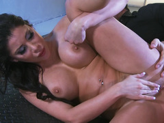 A Latina that has large tits is fucked in the ass and in the pussy