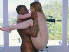 Massage therapist Kenzie Madison can't resist bbc