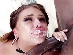 Backdoor Princess Adriana Chechik Gapes and furthermore Swallows Monster BBC