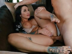 LoveHerFeet - Glamorous Busty Sexually available mom Bangs The Cable Dude