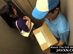 Japanese Delivery Boy Wants Her Pussy