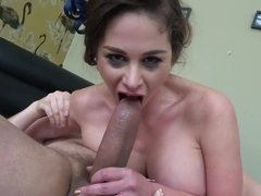 Cathy Heaven is enjoying a thick piece of man meat up her bottom