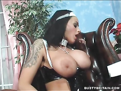 Nun victoria brown ravages her vagina amp caboose with a cross