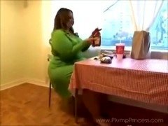 Weighty Princess Fast Food Feast (BBW fastfood stuffing)