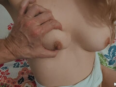 Blonde opens three holes by turns to satisfy her man