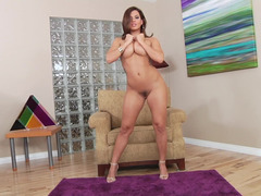 Keisha Grey backdoor sex with a tall man and his sizeable cum cannon