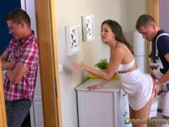 Dane Jones Cheating brunette wife is fucked and additionally creampied by plumber