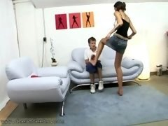 Young and fresh Guy Gets His Number one Trample Experience By Tall Amazon