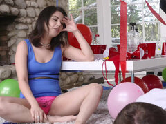 Penelope Reed's hairy bush gets hammered & cum filled after party