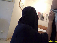 Arab Burqa gargle session - Unwanted, CIM and swallow