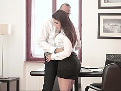 Office sluts getting cock while on the clock