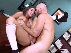 Hot female is getting penetrated in the office by her teacher