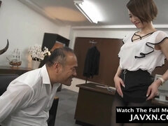 Amazing Japanese MILF Office Bitch