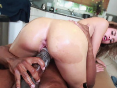 Huge black knob has an intercourse lascivious Natasha White until she cums
