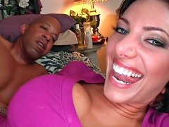 Naughty kitten Juelz loves receiving large black ramrods into her love hole