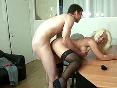 GERMAN MATURE HELP YOUNG cherry stud WITH HIS very first FUCK
