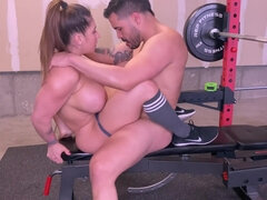 Intimate Trainer gives an Supreme Exercise to one of his Customers from Home