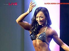 steaming And super-cute Korean Muscle gals