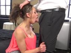 Eager mom sub throat fucked