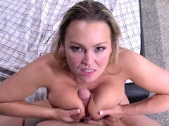 Abbey Brooks caught stepson jerking works on his dick with her bj & fuck skills