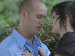Naughty emo Nikki Hearts seduces serious fella Sean Lawless