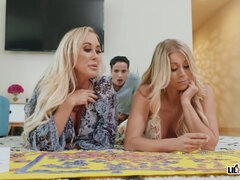 Katie Morgan, Brandi Love - Puzzled Over Pussy
